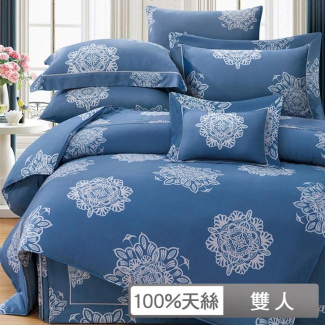 【貝兒居家寢飾生活館】裸睡系列60支天絲兩用被床包組(法納司/ 雙人)