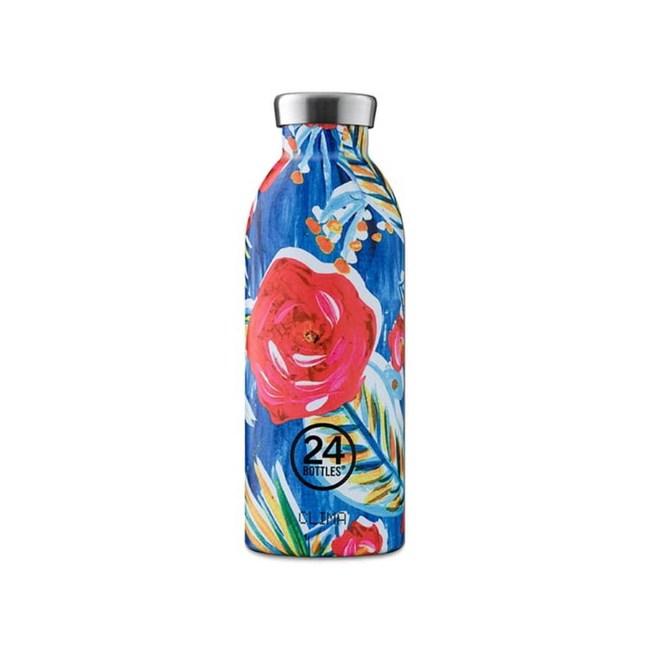 義大利 24Bottles 不鏽鋼雙層保溫瓶500ml - 山茶花