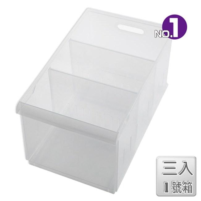 【收納屋】「無印美學」積木01隔板整理盒(附輪)(三入)