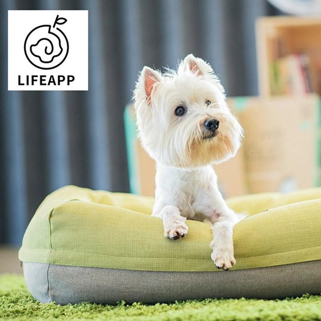 LIFEAPP愛兒堡空氣床 - 芥未綠 ( M) )/中型犬貓。活動力強年輕犬