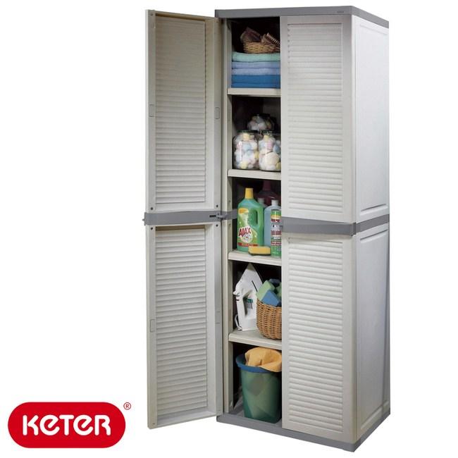 KETER 新型塑鋼五層櫃 Utility Louvre Cabinet塑鋼材質 耐曬耐淋