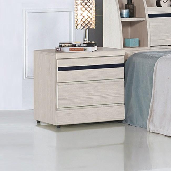 【YFS】艾米雪白二抽床頭櫃-48x40.5x49cm