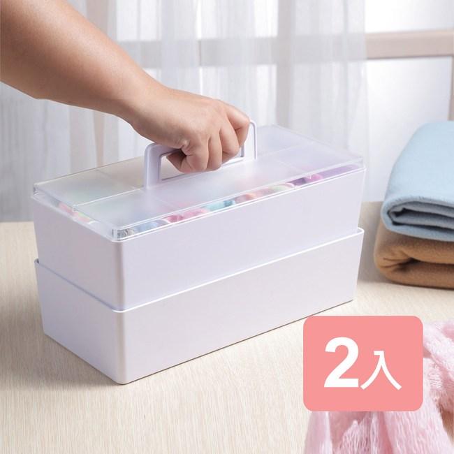《真心良品x樹德》潘朵拉手提式工具收納箱2入組白色