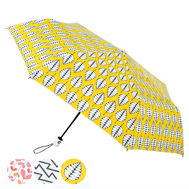 2mm 100%遮光 雅致品味黑膠降溫自動開收傘 (秋風闊葉)