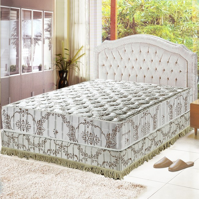 【睡芝寶】智慧涼感-防蹣抗菌蜂巢獨立筒床墊雙人5尺