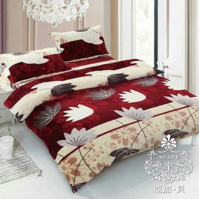 AGAPE 亞加‧貝《花香笙歌》MIT舒柔棉 雙人5尺三件式薄床包組