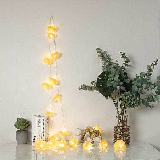 USB星星燈串-黃色桔梗花