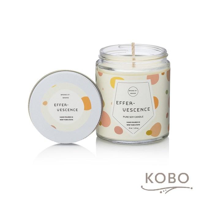 【KOBO】 美國大豆精油蠟燭-薑芬氣泡-170g/可燃燒35hr