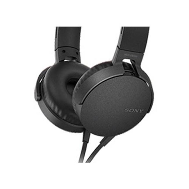 【送收納袋】SONY MDR-XB550AP 黑 EXTRA BASS耳罩式耳機