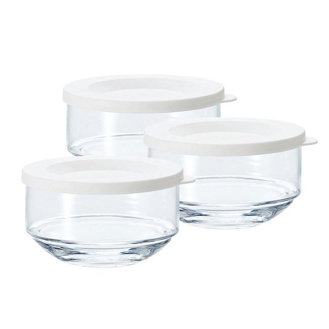 日本TOYO-SASAKI 玻璃罐3入組-白