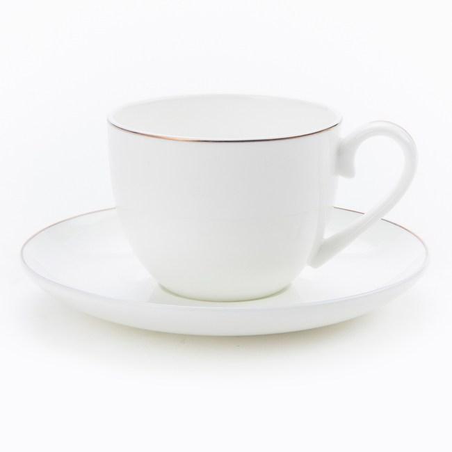 HOLA 緻金骨瓷杯碟 線圈 可適用微波爐及洗碗機