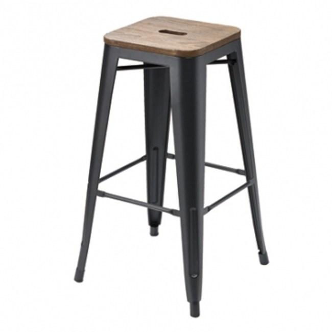 科爾造型吧台椅-磨砂黑