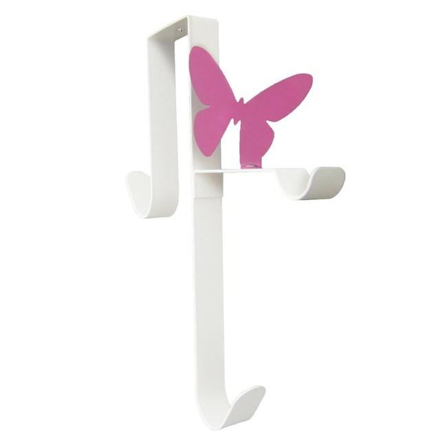 Elegant 紫蝴蝶造型前後門三掛勾