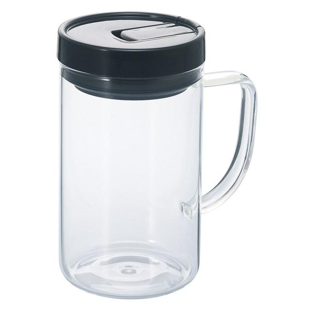 【HARIO】把手咖啡保鮮罐L黑色 / MCNT-M-B
