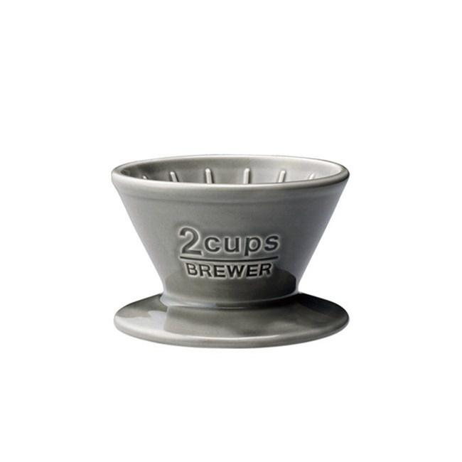 SCS陶瓷濾杯2杯  灰