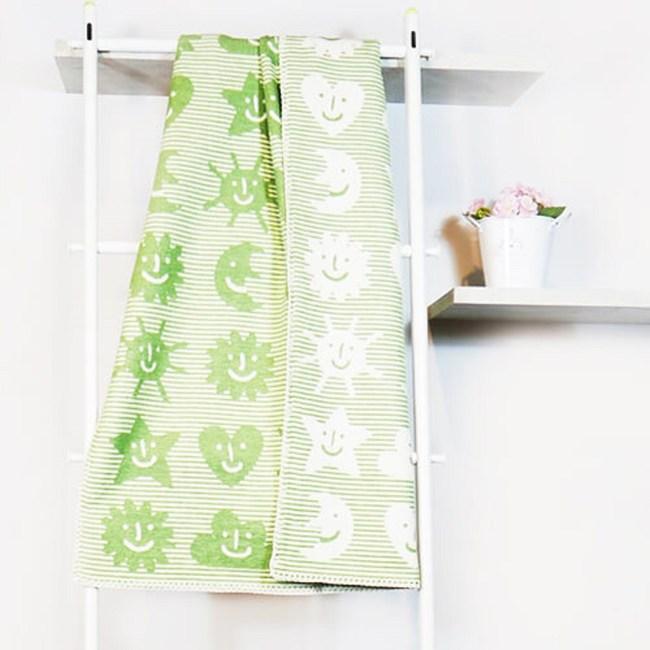 瑞典Klippan舒柔純棉冷氣毯--小宇宙(綠)