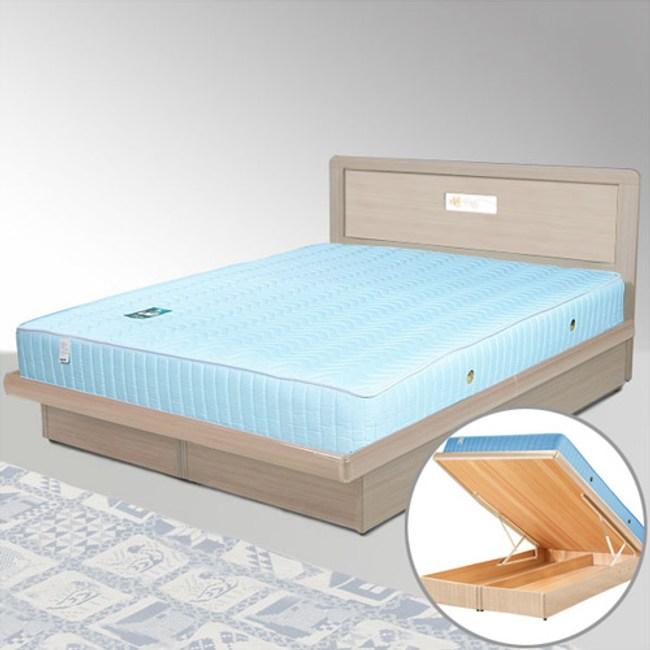 Homelike 朵拉5尺掀床組-雙人(白橡木紋)
