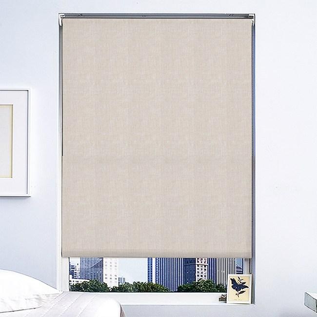 清朗半透光彈簧捲簾90cmx180cm 米色