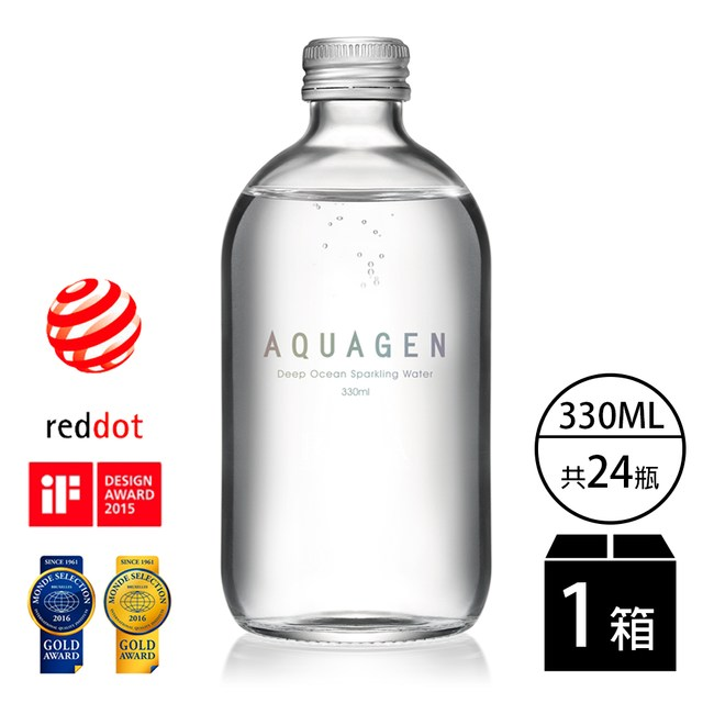 【AQUAGEN】海洋深層氣泡水經典原味(金馬獎唯一指定氣泡水)