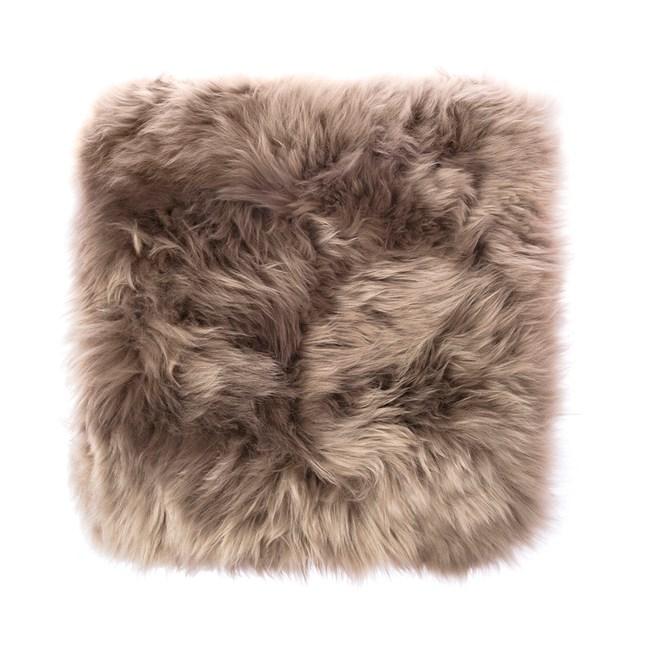 HOLA 經典素色方形羊毛坐墊40x40cm 拿鐵