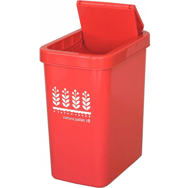 【this-this】滑蓋式垃圾桶18L-紅色
