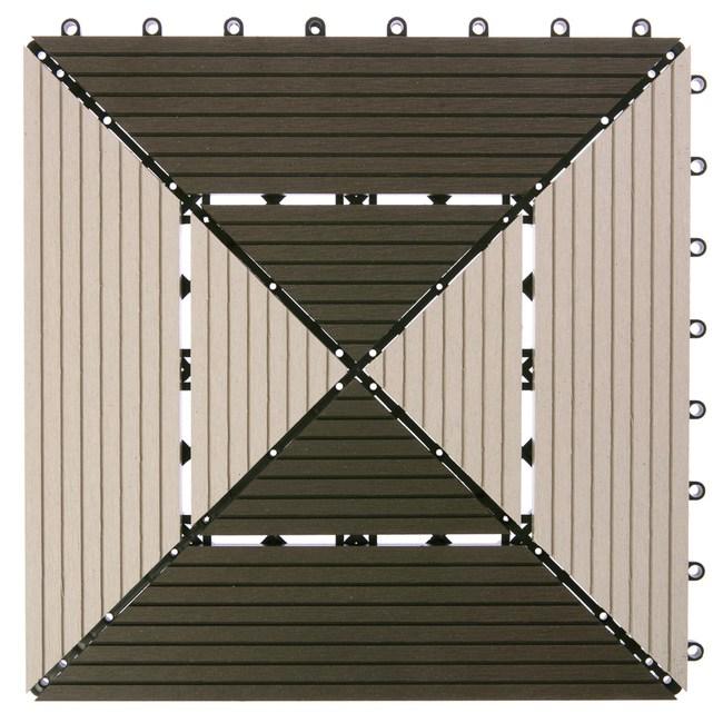 特力屋 塑木地板 30x30cm 菱紋拼接 單售