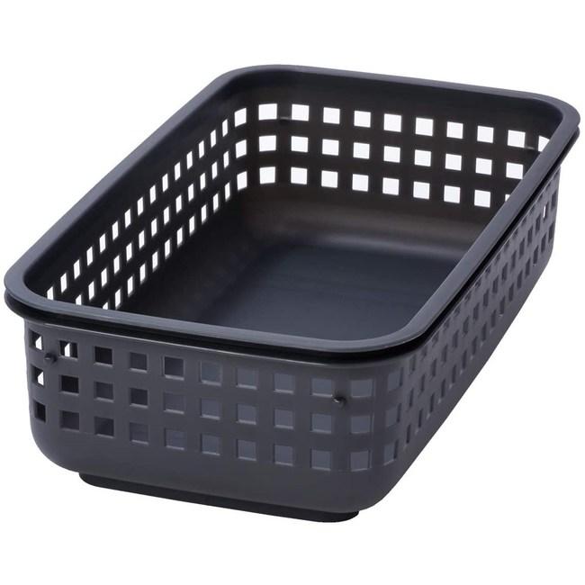 日本 Like-it [窄款]可堆疊收納籃 洗衣籃 S(單個)-灰色
