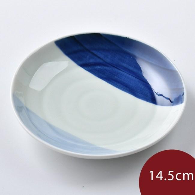 康創陶 和食器 前菜碟 藍深藍淺 14.5cm