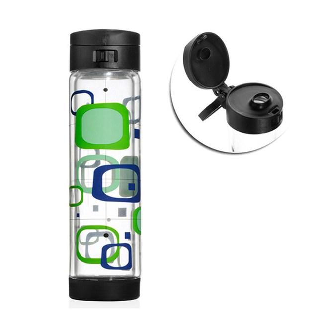 美國Glasstic安全防護玻璃水瓶470 ml彩繪款RETR-掀蓋黑