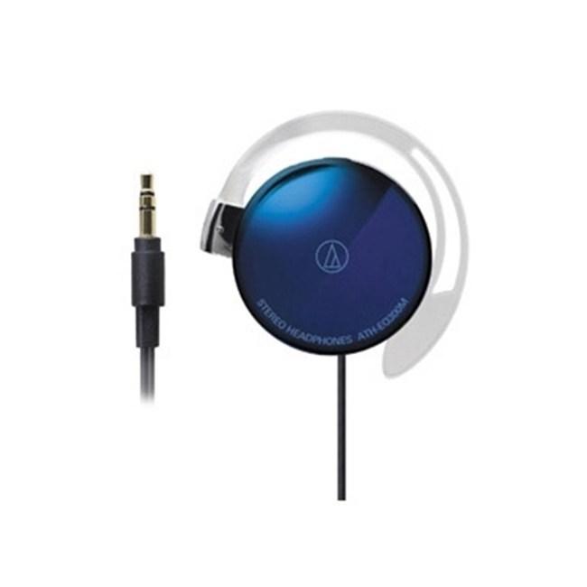 鐵三角 ATH-EQ300M 藍色 耳掛式耳機 超輕薄20g