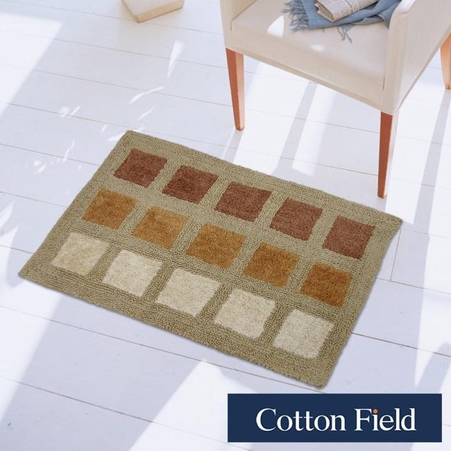 棉花田【亞格】純棉雙面編織踏墊-2色可選(50x80cm)米褐色