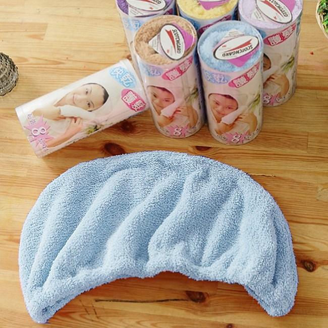 【米夢家居】水乾乾SUMEASY開纖吸水紗-快乾護髮浴帽(藍)三入