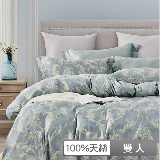 【貝兒居家寢飾】100%天絲全鋪棉床包兩用被四件組(雙人/夏日甜馨)
