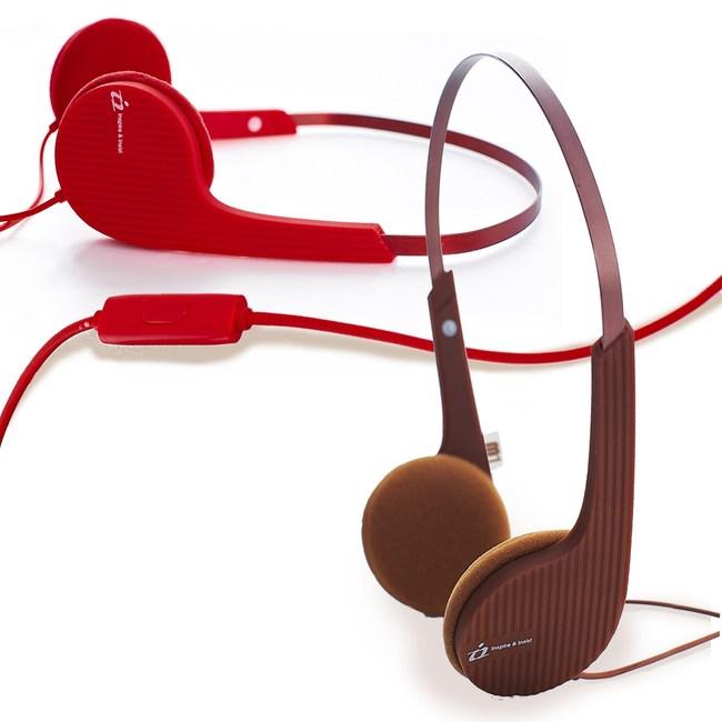【i2艾思奎】音符耳罩式線控耳機-櫻花紅