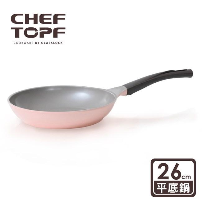 【韓國Chef Topf】La Rose玫瑰薔薇系列26公分不沾平底鍋