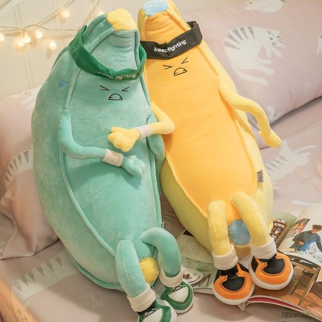 香蕉兄弟【綠】 造型抱枕  棉床本舖