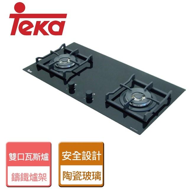 【TEKA】玻璃雙口瓦斯爐-LUX-78-桶裝