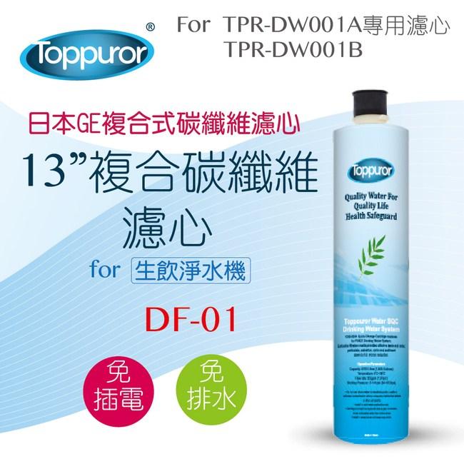 【Toppuror 泰浦樂】13吋不銹鋼複合碳纖維濾心(DF-01)