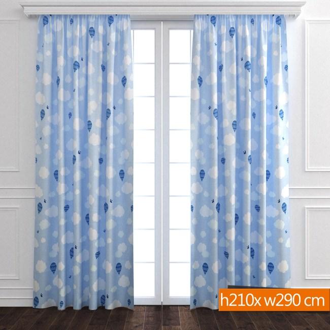 雲朵防蹣抗菌遮光窗簾 寬290x高210cm