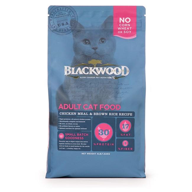 【BLACKWOOD】柏萊富特調成貓亮毛配方雞肉+糙米-13.23磅