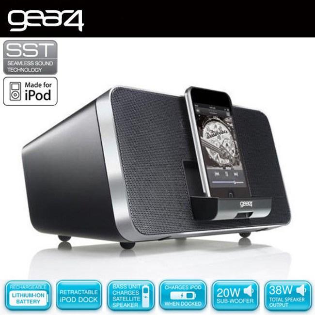 英國Gear4 DUO 可分離式2.1聲道 iPod / iPhone音響系統