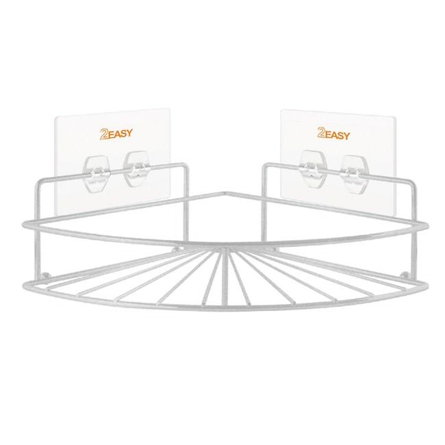 2EASY 台製無痕鐵架收納系列 扇形角落置物架扇形角落置物架