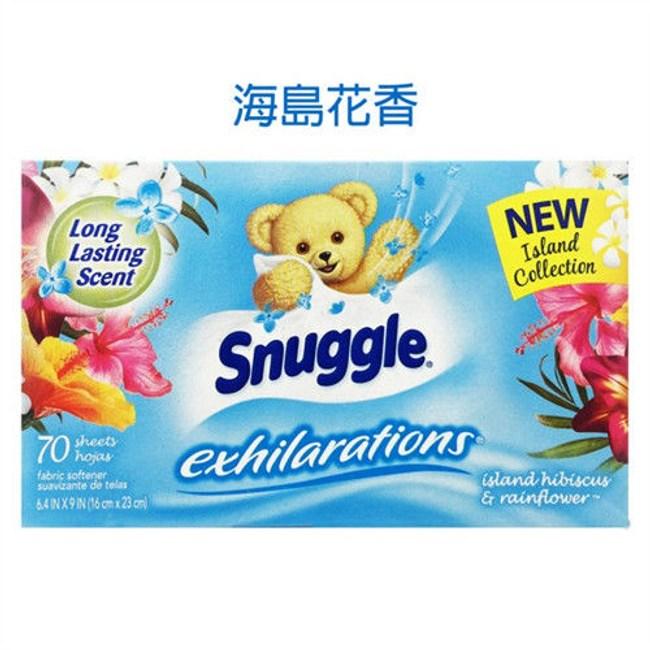 美國 Snuggle 烘乾機香衣片---海島花香(70片*3盒)