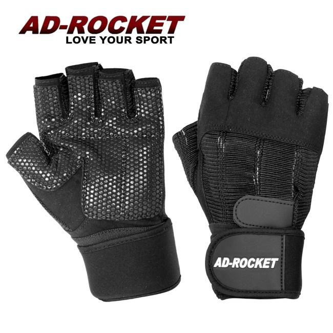 【AD-ROCKET】頂級耐磨防滑透氣重訓手套/健身手套/運動手套M號