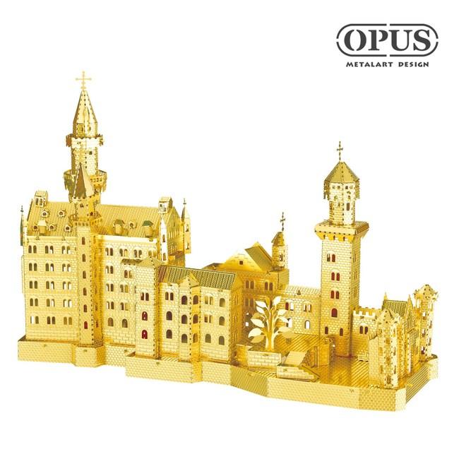 OPUS 3D立體金屬拼圖/DIY建築模型/益智玩具(天鵝堡)