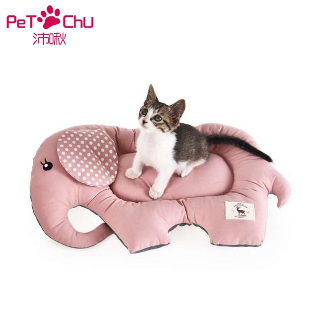 【Pet Chu沛啾】大象防滑貓睡墊-粉色