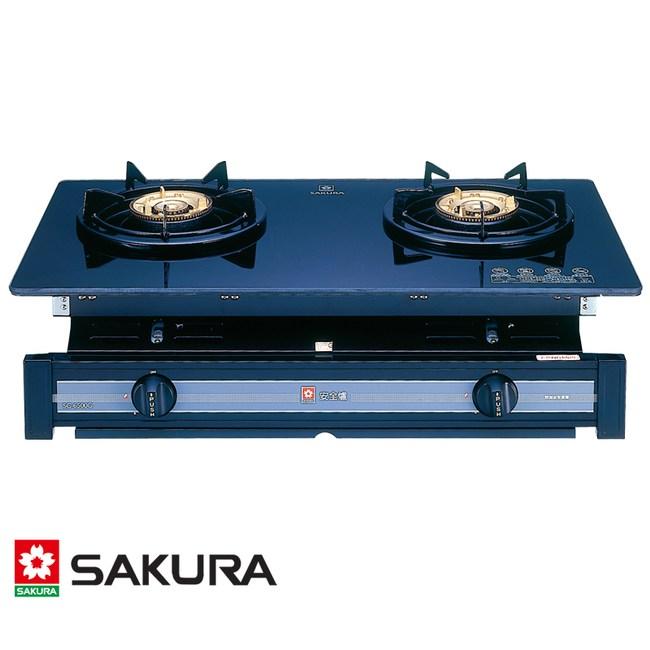 櫻花 SAKURA 兩口玻璃面板嵌入爐 標準系列 G-6500KG(LPG) [液化桶裝瓦斯]