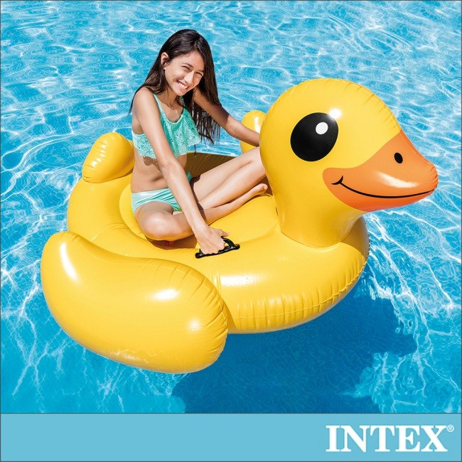 【INTEX】黃色小鴨水上坐騎147x147x81cm(57556)