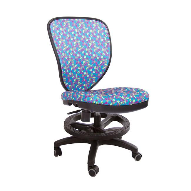 GXG 兒童數字 半網椅 TW-102F (壓力止滑輪款)藍色