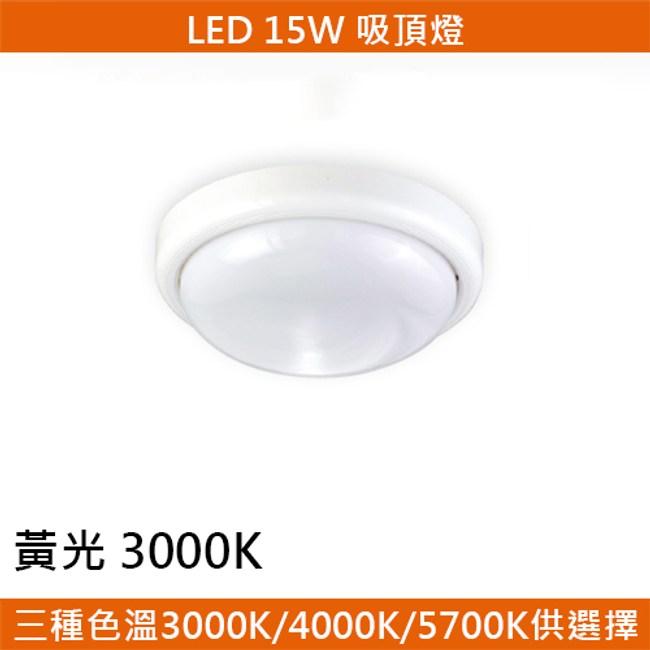 HONEY COMB LED 15W罩式吸頂燈 黃光 T04923